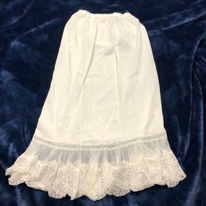 Vintage Long Slip with Lace Rogers 5